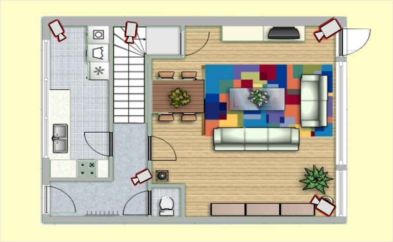 Монтаж видеонаблюдения в квартире