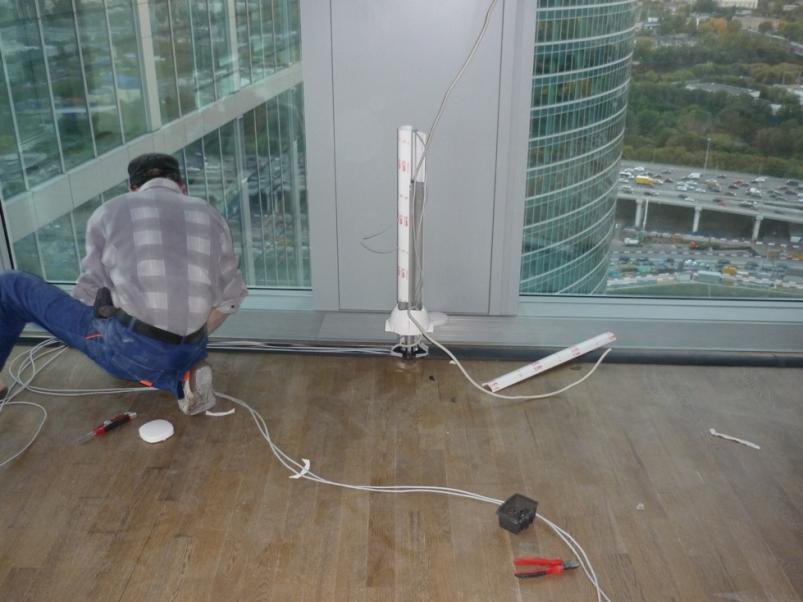 Электромонтажные работы в офисе