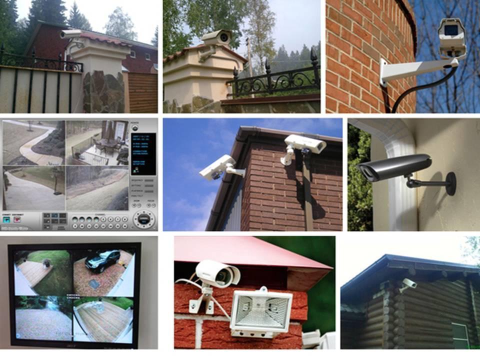 монтаж видеонаблюдения в частном доме