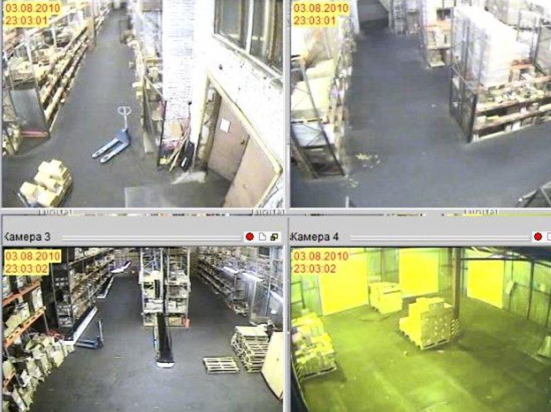 установка видеонаблюдения на складской базе2