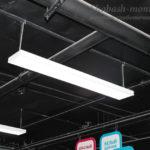 Установленные светильники на шпильках.