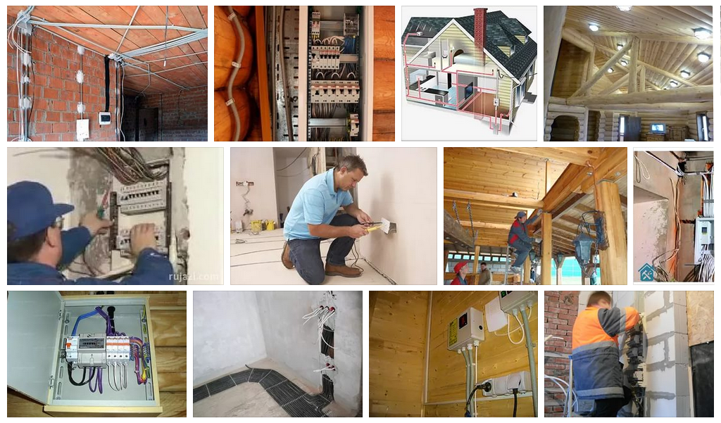 Электромонтажные работы в частном доме, на даче, в деревянном доме