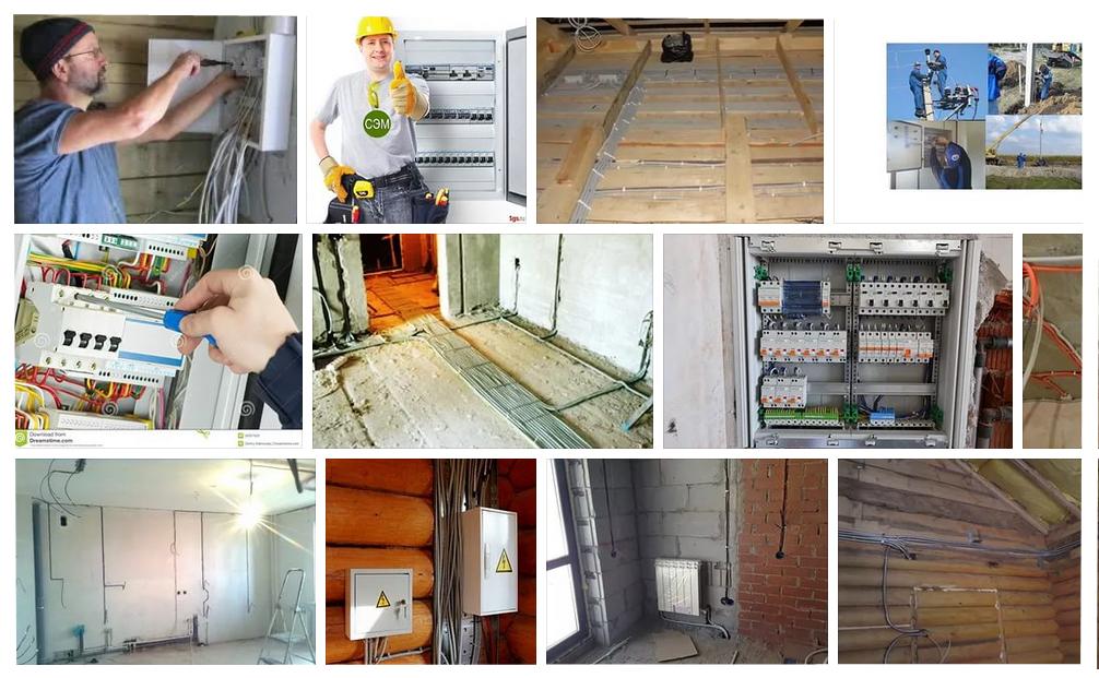 Этапы электромонтажных работ в коттедже в москве