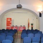 Монтаж освещения в актовом зале, в Испанском культурном центре в г. Москве